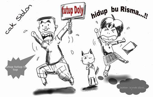 cak siblon gang doly, Surabaya